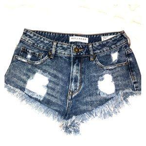 Women's Bullhead ripped jean shorts